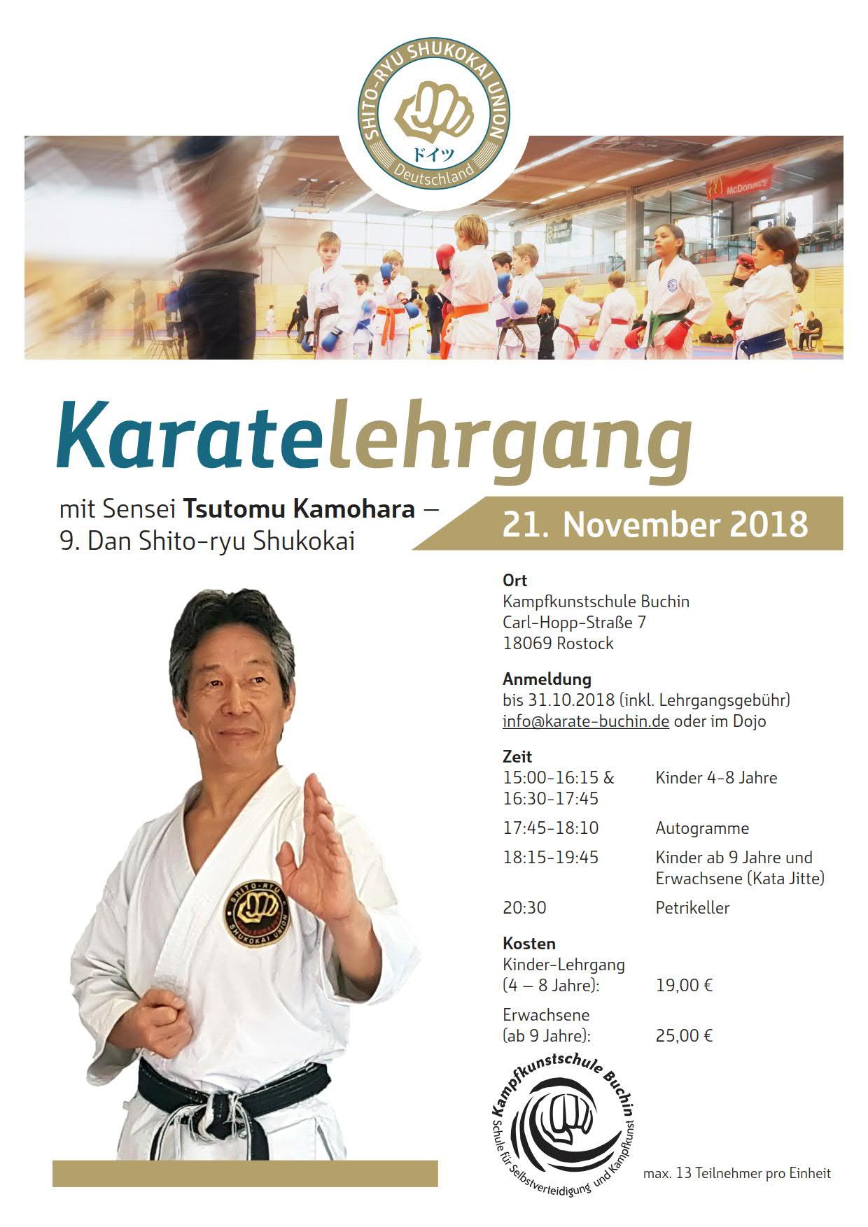 Seminar mit Sensei Kamohara in Rostock!